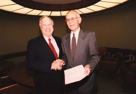 Harry Ward (right) with Ray Thornton © Pryor Center for Arkansas Oral and Visual History, University of Arkansas