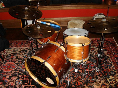 John Ware's favorite Sam Bacco-refurbished drum set, which never leaves home © Pryor Center for Arkansas Oral and Visual History, University of Arkansas