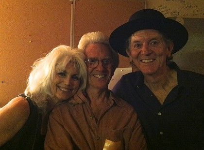 Emmylou Harris, John Ware, and Rodney Crowell backstage, 2013 © Pryor Center for Arkansas Oral and Visual History, University of Arkansas