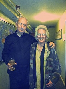 Michael Nesmith and John Ware backstage; Boulder, Colorado, 2013 © Pryor Center for Arkansas Oral and Visual History, University of Arkansas