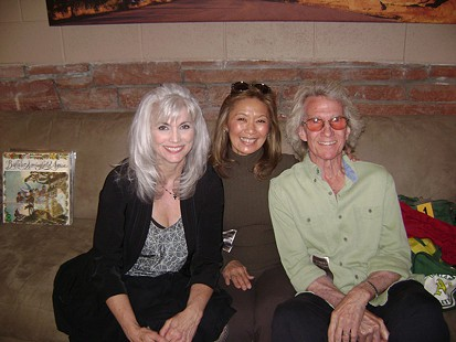 John Ware wtih Emmylou Harris (left) and his wife, Kit (center), backstage at Red Rocks Amphitheatre, 2013 © Pryor Center for Arkansas Oral and Visual History, University of Arkansas
