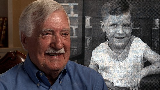 Composite image of early photo of Parker Westbrook and still frame from Pryor Center video interview © Pryor Center for Arkansas Oral and Visual History, University of Arkansas