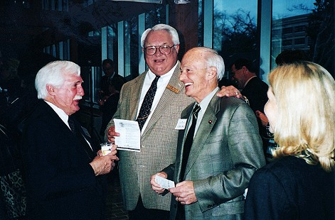 Parker Westbrook (left) with (l-r) Governor Frank White and Senator Jim Hill, Historic Arkansas Museum, Little Rock, Arkansas, 1982 © Pryor Center for Arkansas Oral and Visual History, University of Arkansas