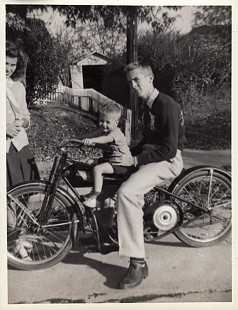 Bud Whetstone sitting on a motorcycle, 3 years old, ca. 1945 © Pryor Center for Arkansas Oral and Visual History, University of Arkansas