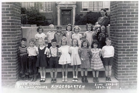 Bud Whetstone (front row, 2nd from left) with Yocum Elementary School kindergarten classmates and teacher, Mrs. Swan; El Dorado, Arkansas, 1947-48  © Pryor Center for Arkansas Oral and Visual History, University of Arkansas