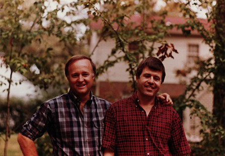 Gary Dalton with close friend and college roommate, Bud Whetstone; Gary Dalton was the namesake of Bud's son © Pryor Center for Arkansas Oral and Visual History, University of Arkansas