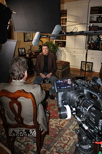 Behind-the-scenes photo from Pryor Center interview with Bud Whetstone; Little Rock, Arkansas, 2011 © Pryor Center for Arkansas Oral and Visual History, University of Arkansas