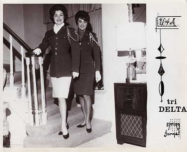 Donna Axum (Whitworth) (left) at the Tri Delta sorority house © Pryor Center for Arkansas Oral and Visual History, University of Arkansas