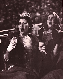 Donna Axum (Whitworth) at the University of Arkansas-Texas A&M football game after being crowned Miss America; Little Rock, Arkansas; November 2, 1963 © Pryor Center for Arkansas Oral and Visual History, University of Arkansas