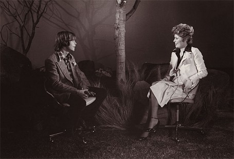Donna Axum (Whitworth) interviewing <i>Star Wars</i> star, Mark Hamill, at 20th Century Fox, June 1977 &copy; Pryor Center for Arkansas Oral and Visual History, University of Arkansas