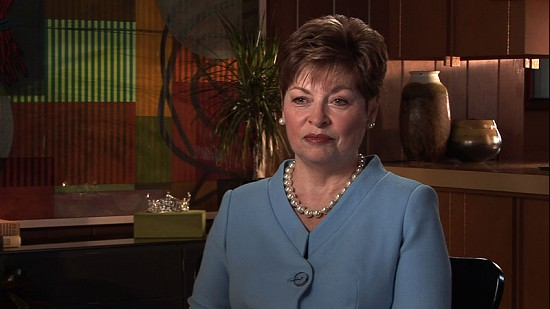 Still frame from Pryor Center video interview with Donna Axum Whitworth; Fayetteville, Arkansas, 2007 © Pryor Center for Arkansas Oral and Visual History, University of Arkansas