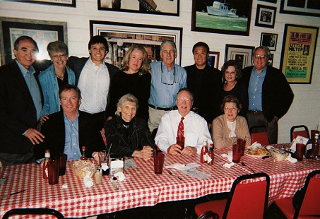Luncheon in honor of Lee Williams at the establishment of the Lee Williams Fellowship in Public Service: (back row, left to right) David Lambert, Katie Eldridge, Taylor Lambert, Marsha Scott, George Eldridge, Huey Yu, Mary Berry, Paul Berry; (front row, left to right) Joe O'Neill, Harriet Fulbright, Lee Williams, Vicky Williams; Doe's Eat Place, Little Rock, Arkansas, 2006 © Pryor Center for Arkansas Oral and Visual History, University of Arkansas