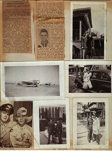 Photos of Al Witte in the Air Force; posing with his mother (top right photo) and with his high school friend, Bill (bottom right photo) © Pryor Center for Arkansas Oral and Visual History, University of Arkansas