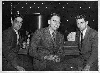 Al Witte (right) with his best friend Bill Catrobone and Don Webb; Buffalo, New York, 1946 © Pryor Center for Arkansas Oral and Visual History, University of Arkansas