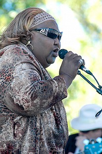 Sweet Betty Journey performs at the Arkansas Blues and Heritage Festival; 2006 © Eric Gorder 2006; egorder@gmail.com