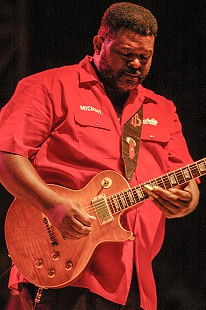 Michael Burks performs at the Arkansas Blues and Heritage Festival; 2006 © Eric Gorder 2006; egorder@gmail.com