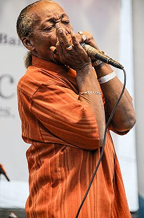 "Willie ""Big Eyes"" Smith performs on the main stage at the Arkansas Blues and Heritage Festival; 2009 © Eric Gorder 2009; egorder@gmail.com"