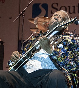B.B. King performs at the Arkansas Blues and Heritage Festival; 2010 © Eric Gorder 2010; egorder@gmail.com