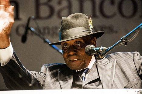 Pinetop Perkins performs at the Arkansas Blues and Heritage Festival; 2009 © Eric Gorder 2009; egorder@gmail.com