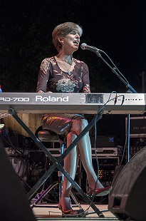 Marcia Ball performs at the Arkansas Blues and Heritage Festival; 2010 © Eric Gorder 2010; egorder@gmail.com