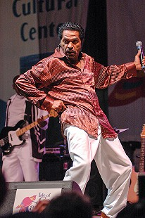Bobby Rush performs on the main stage at the Arkansas Blues and Heritage Festival; 2005 © Eric Gorder 2005; egorder@gmail.com