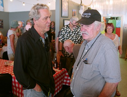Bubba Sullivan (right) at the Bobby Rush Appreciation Day event, which was held at Southbound Pizza during the King Biscuit Blues Festival; Helena, Arkansas, 2016 © Pryor Center for Arkansas Oral and Visual History, University of Arkansas