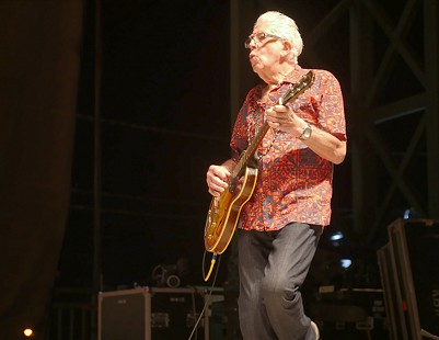 John Mayall performs at the King Biscuit Blues Festival; Helena, Arkansas, 2016 © Pryor Center for Arkansas Oral and Visual History, University of Arkansas