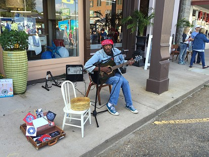 Lucious Spiller performs on Cherry Street during the King Biscuit Blues Festival; Helena, Arkansas, 2015 © Pryor Center for Arkansas Oral and Visual History, University of Arkansas
