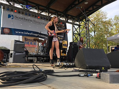 Samantha Fish performs on the main stage at the King Biscuit Blues Festival; Helena, Arkansas, 2015 © Pryor Center for Arkansas Oral and Visual History, University of Arkansas