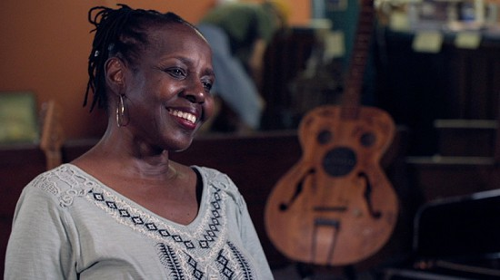 Still frame from Pryor Center video interview with Veronika Jackson at Bubba's Blues Corner; Helena, Arkansas, 2017 © Pryor Center for Arkansas Oral and Visual History, University of Arkansas