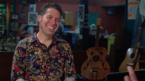 Still frame from Pryor Center video interview with Hamilton Loomis at Bubba's Blues Corner; Helena, Arkansas, 2018 © Pryor Center for Arkansas Oral and Visual History, University of Arkansas