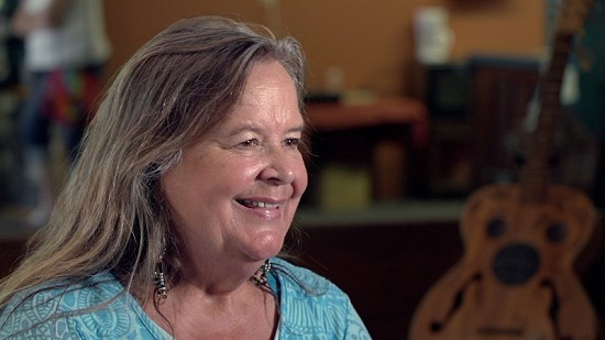 Still frame from Pryor Center video interview with Tracy Nelson at Bubba's Blues Corner; Helena, Arkansas, 2017 © Pryor Center for Arkansas Oral and Visual History, University of Arkansas