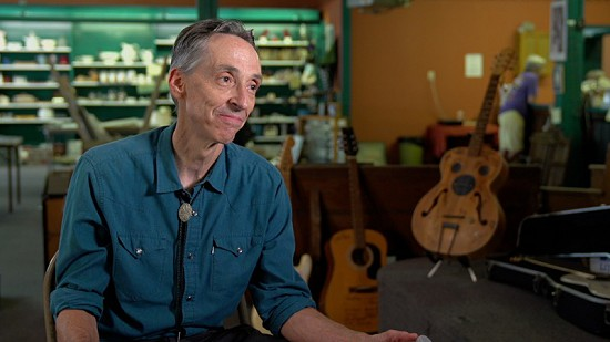 Still frame from Pryor Center video interview with Dave Pruitt at Bubba's Blues Corner; Helena, Arkansas, 2017 © Pryor Center for Arkansas Oral and Visual History, University of Arkansas