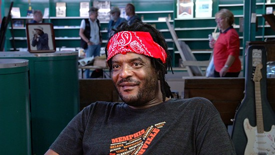 Still frame from Pryor Center video interview with Lucious Spiller at Bubba's Blues Corner; Helena, Arkansas, 2015 © Pryor Center for Arkansas Oral and Visual History, University of Arkansas